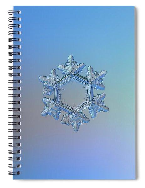 Snowflake Photo - Sunflower Spiral Notebook