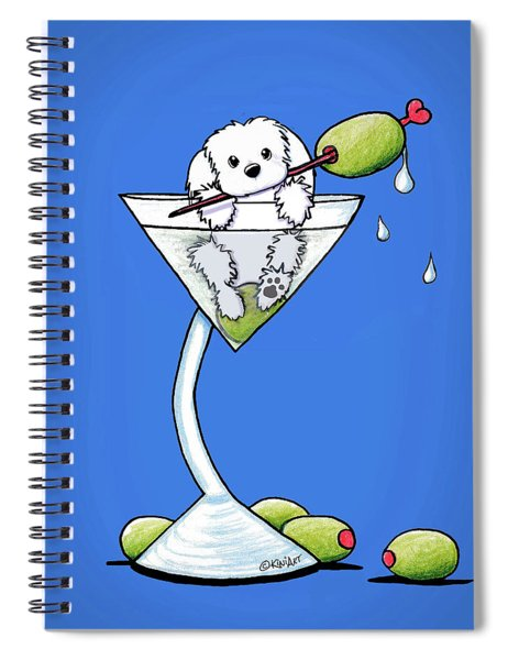 Maltese Martini Spiral Notebook