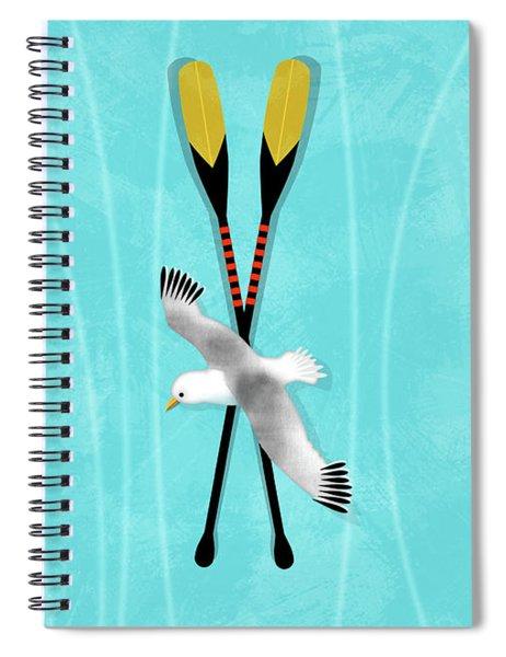K Is For Kayak And Kittiwake Spiral Notebook