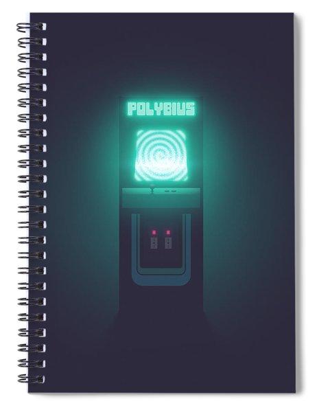 Polybius Arcade Game Machine Cabinet - Front Black Spiral Notebook