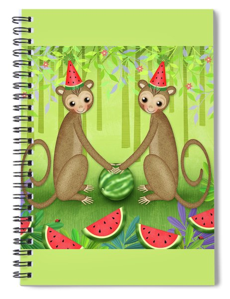 M Is For Monkeys Spiral Notebook