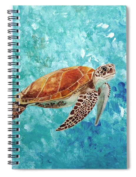 Turtle Swimming Spiral Notebook