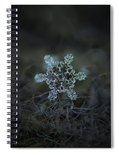 Real Snowflake - Slight Asymmetry New Spiral Notebook