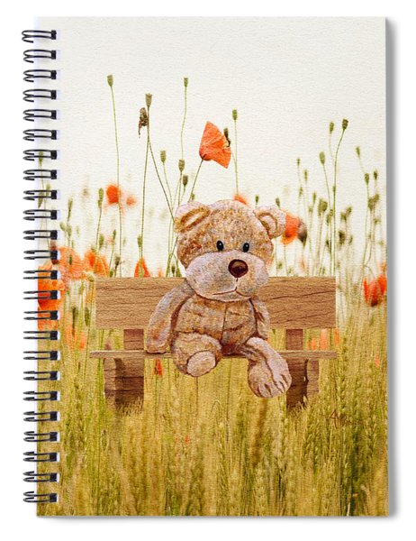 Cuddly In The Garden Spiral Notebook