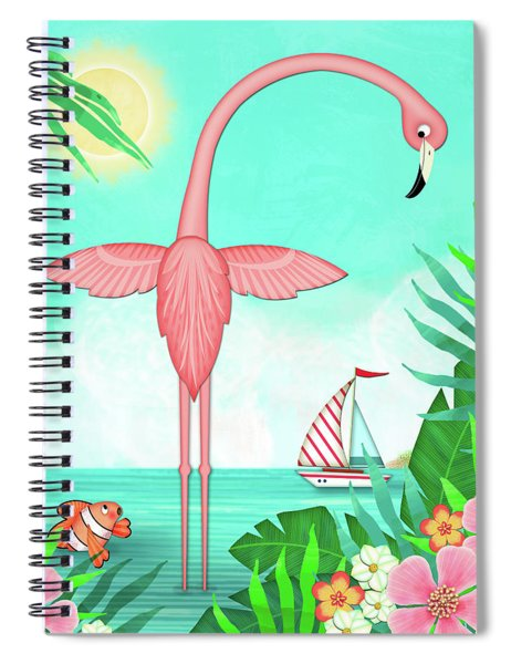 F Is For Flamingo Spiral Notebook