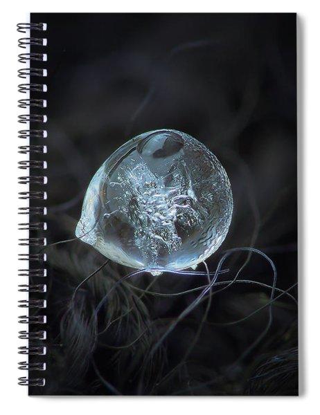 Drop Of Ice Rain Spiral Notebook