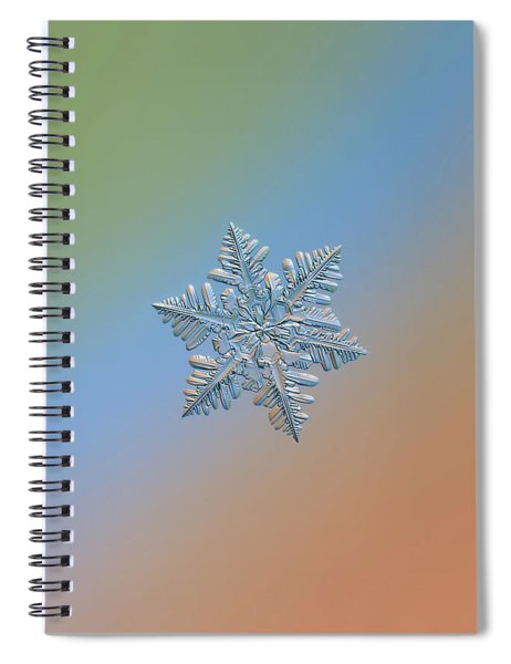 Snowflake Macro Photo - 13 February 2017 - 5 Spiral Notebook