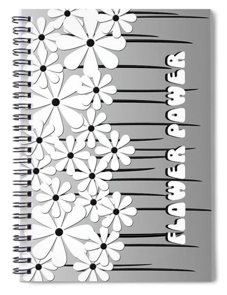 Flower Power - White  Spiral Notebook