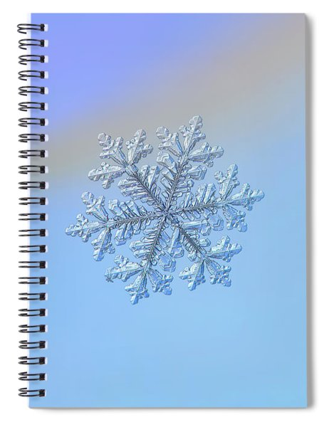 Real Snowflake - Hyperion Spiral Notebook