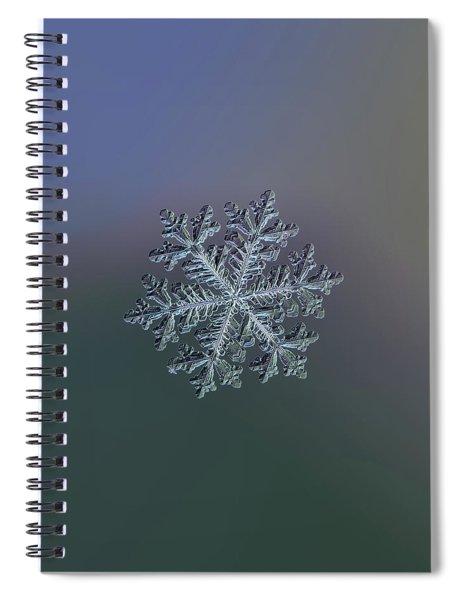 Real Snowflake - Hyperion Dark Spiral Notebook