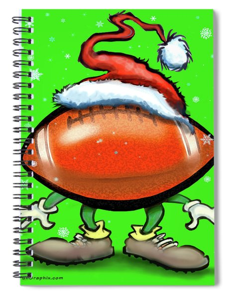 Football Christmas Spiral Notebook