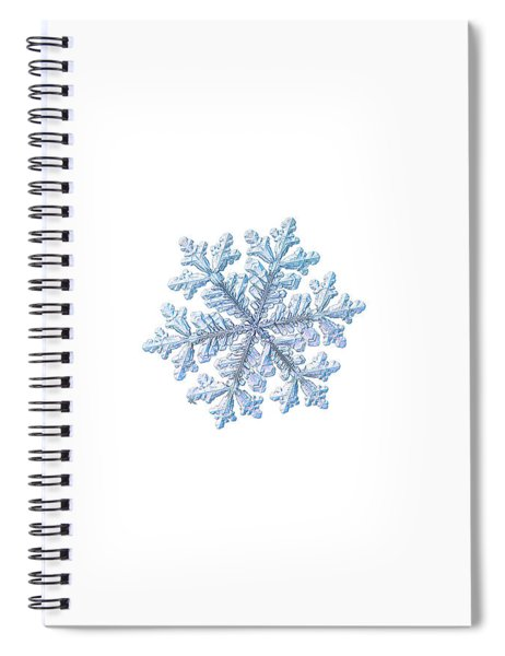 Real Snowflake - Hyperion White Spiral Notebook