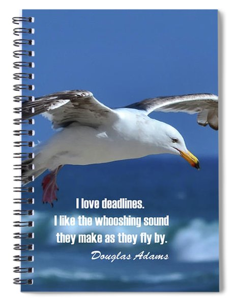 I Love Deadlines Douglas Adams Spiral Notebook