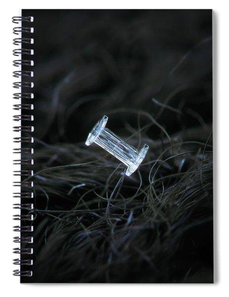 Real Snowflake - 29-jan-2018 - 4 Spiral Notebook