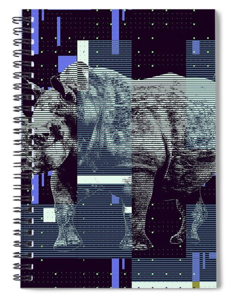 A Geometric Rhinoceros. Spiral Notebook