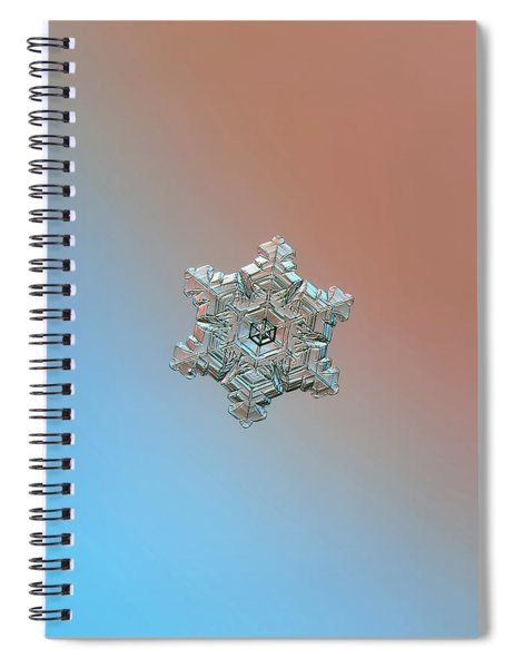 Real Snowflake - 05-feb-2018 - 3 Spiral Notebook