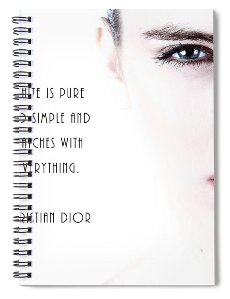 White Is Pure And Simple Spiral Notebook
