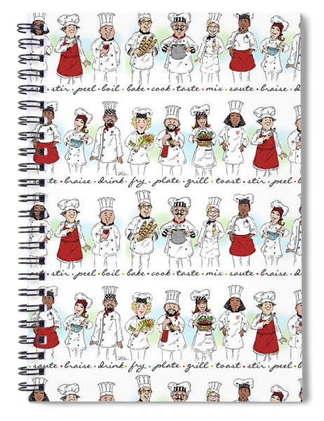 My Chefs In A Row-ii Spiral Notebook