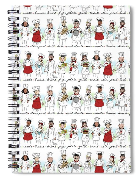 My Chefs In A Row-i Spiral Notebook