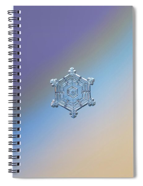 Real Snowflake - 05-feb-2018 - 4 Spiral Notebook