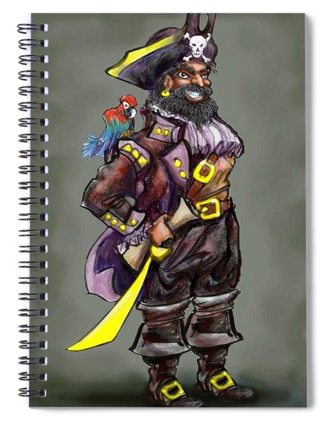Pirate Captain Spiral Notebook