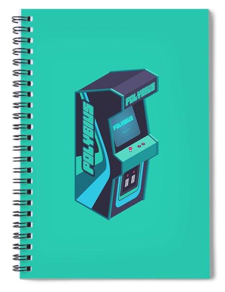 Polybius Arcade Game Machine Cabinet - Isometric Green Spiral Notebook