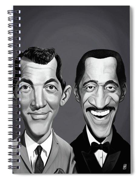 Celebrity Sunday - Sammy Davis Jnr And Dean Martin Spiral Notebook