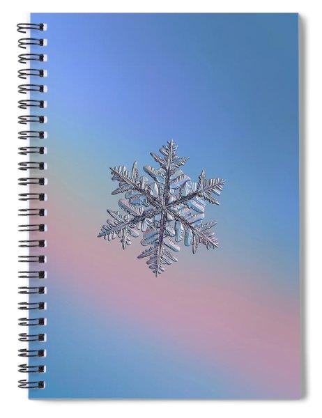 Snowflake Macro Photo - 13 February 2017 - 6 Spiral Notebook