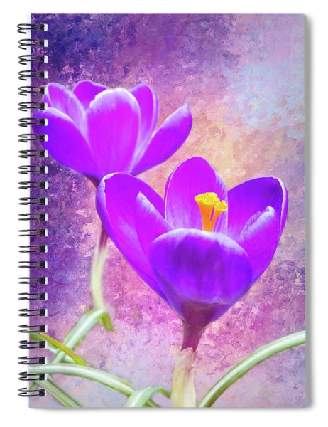 Our First Crocuses This Spring Spiral Notebook