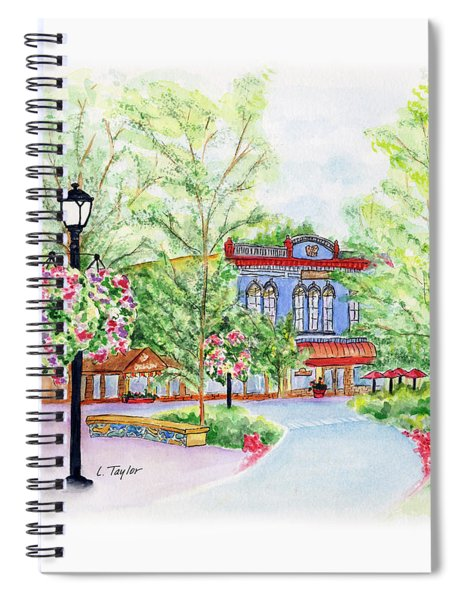 Black Sheep On The Plaza Spiral Notebook
