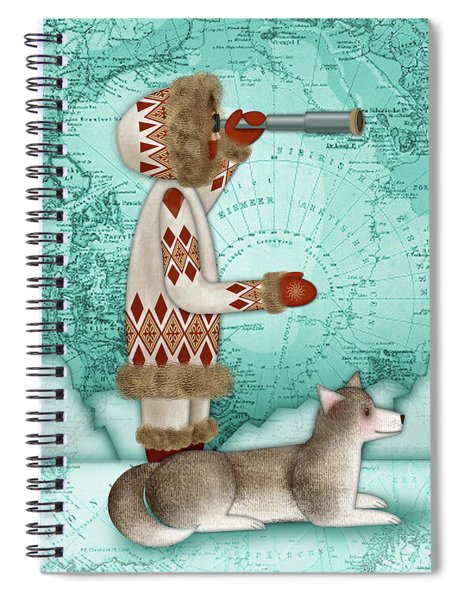 E Is For Eskimo And Explorer Spiral Notebook
