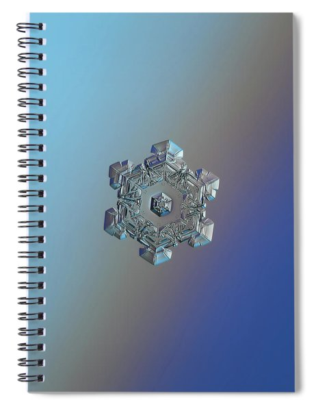 Real Snowflake - 05-feb-2018 - 6 Spiral Notebook