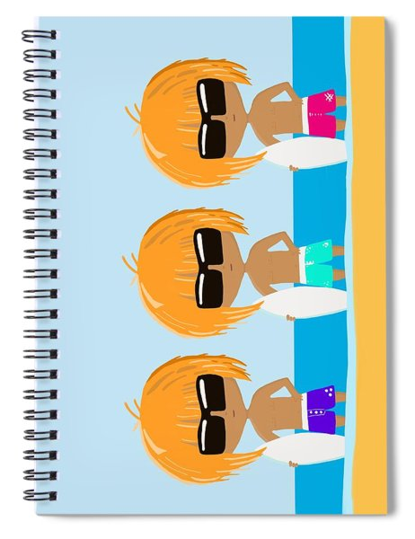 The Surfing Triplets Spiral Notebook