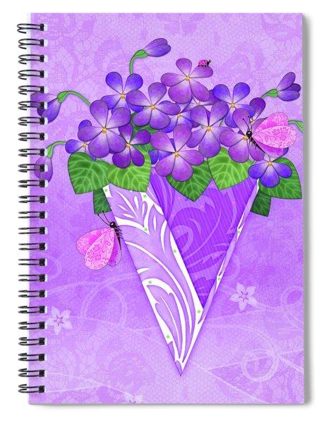V Is For Violets Spiral Notebook