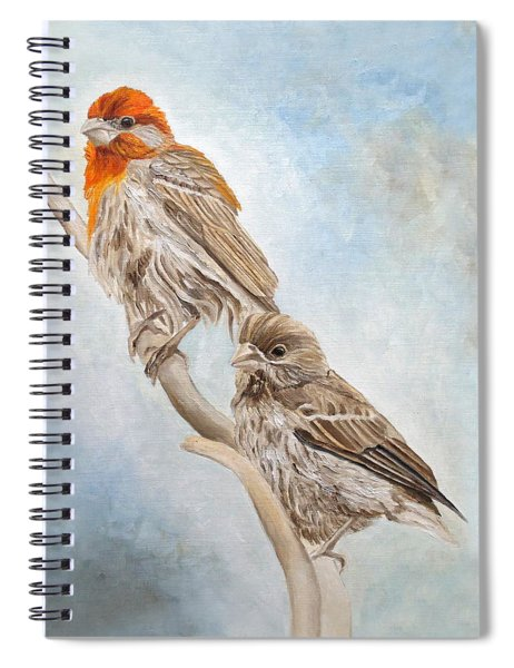 House Finch Couple Spiral Notebook