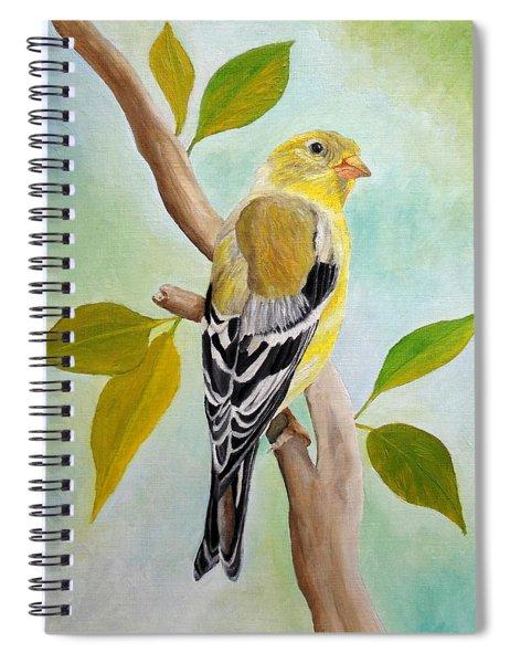 Pretty American Goldfinch Spiral Notebook
