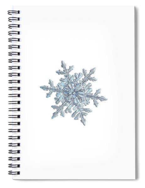 Snowflake 2018-02-21 N1 White Spiral Notebook