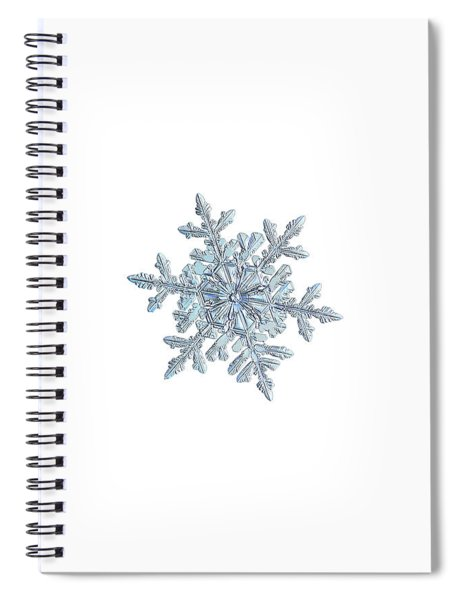 Snowflake 2018-02-21 N1 White Spiral Notebook