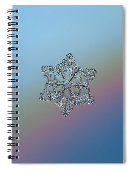 Real Snowflake - 05-feb-2018 - 8 Spiral Notebook