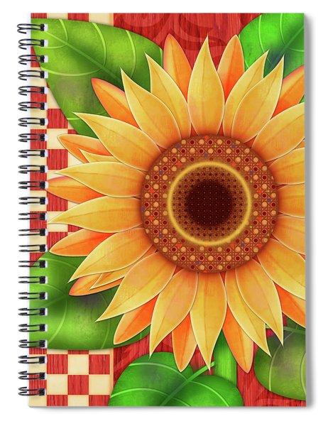 Country Sunflower Spiral Notebook