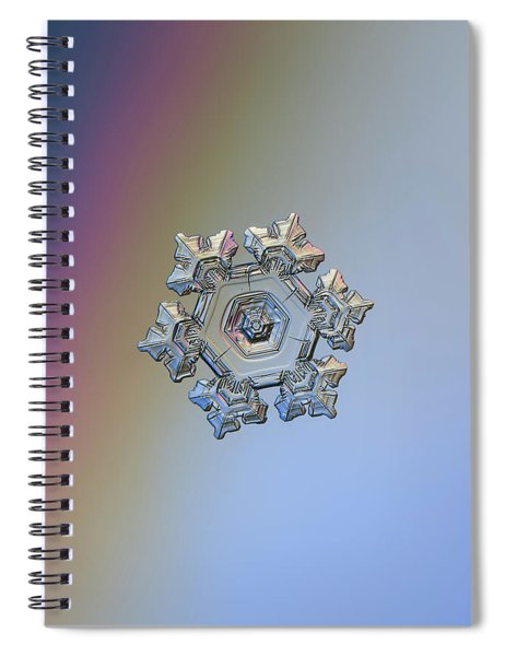 Real Snowflake - 05-feb-2018 - 10 Spiral Notebook
