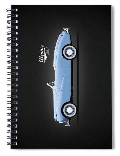 Sunbeam Alpine Sport 1953 Spiral Notebook by Mark Rogan