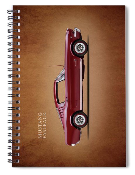 Ford Mustang Fastback 1965 Spiral Notebook by Mark Rogan