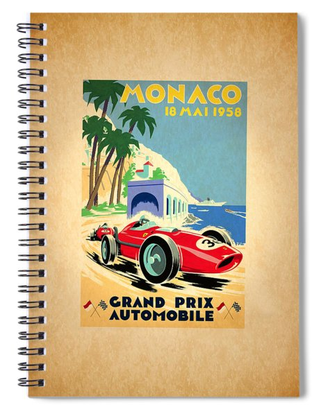 Monaco 1958 Spiral Notebook