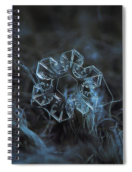 Snowflake Photo - The Core Spiral Notebook