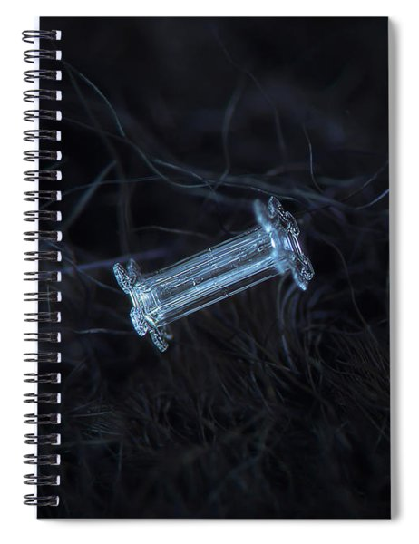 Snowflake Photo - Capped Column Spiral Notebook