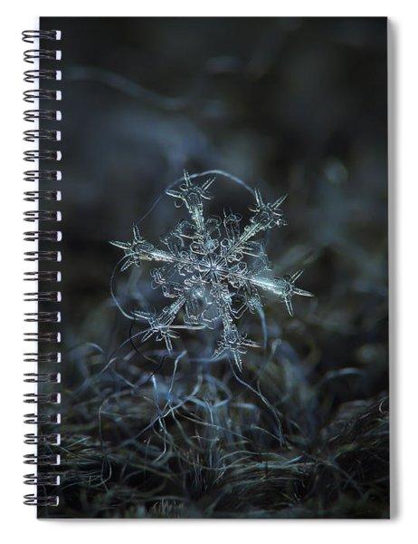 Snowflake Photo - Starlight Spiral Notebook