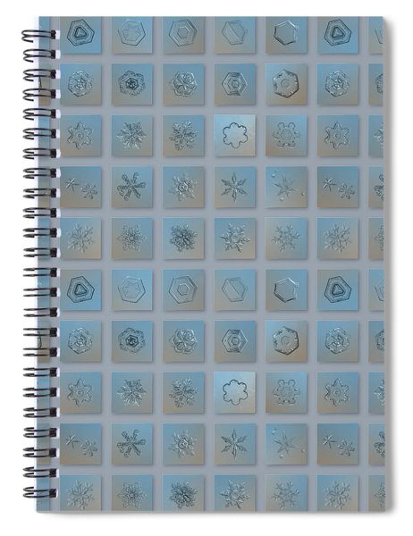 Snowflake Collage - Season 2013 Bright Crystals Spiral Notebook