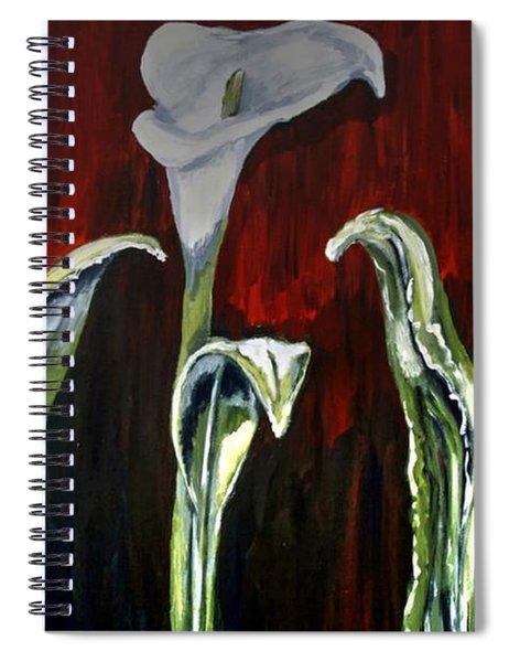 Arum Lillies Spiral Notebook