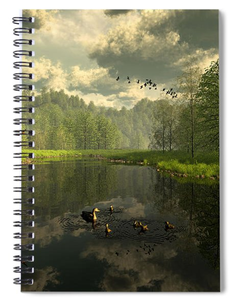 As The River Flows Spiral Notebook